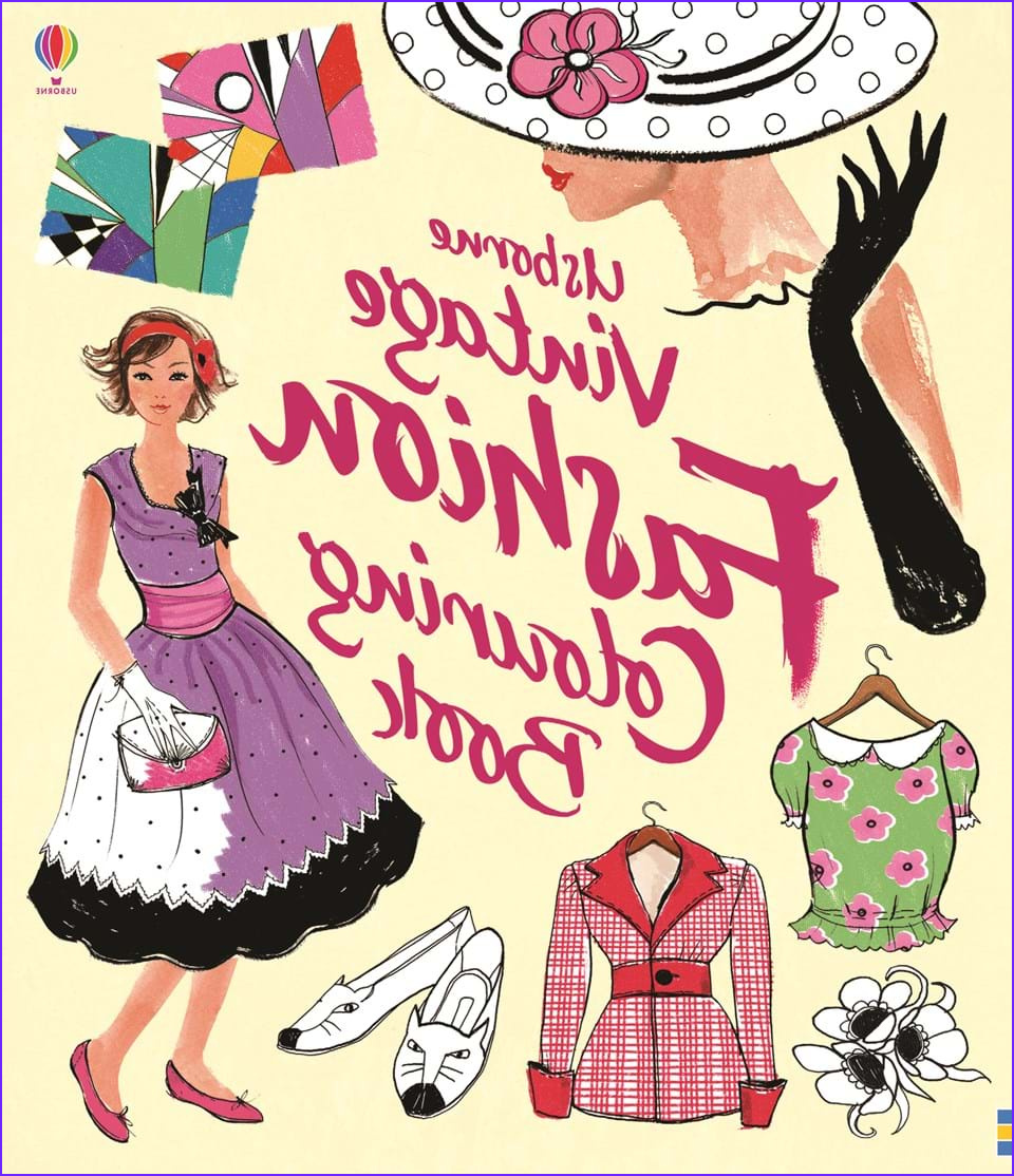 """Fashion Coloring Book New Collection """"vintage Fashion Colouring Book"""" at Usborne Children's Books"""