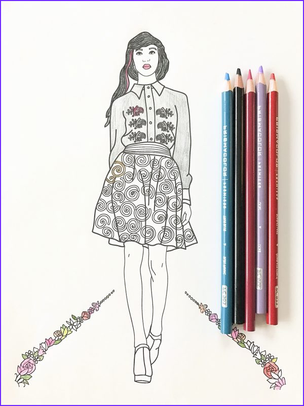 fashion show coloring pages for adults