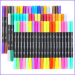 Fine Point Markers For Coloring Beautiful Stock Soucolor 60 Colors Dual Tip Brush Pens With Fineliner Tip