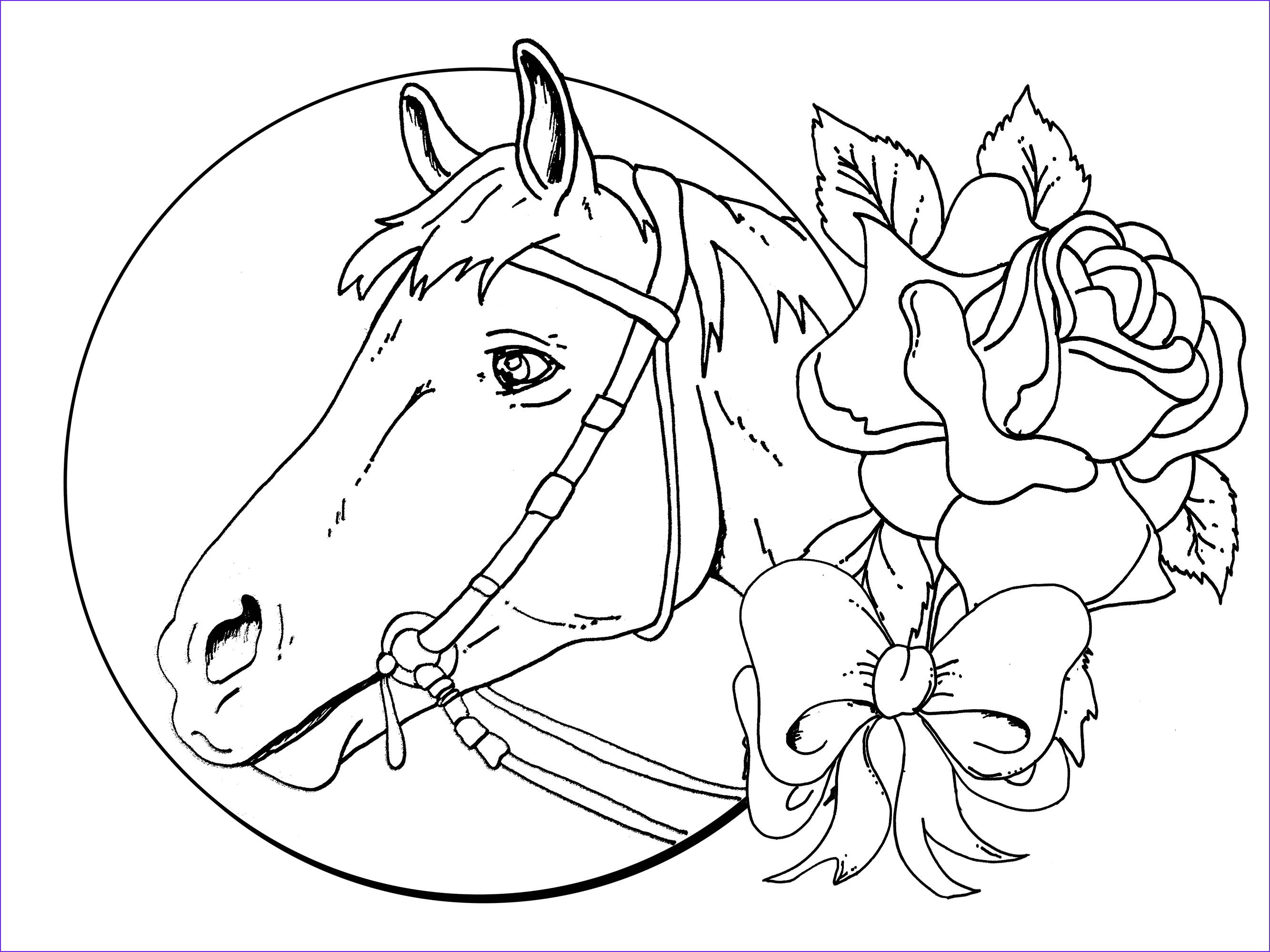 11 Cool Free Horse Coloring Page Collection