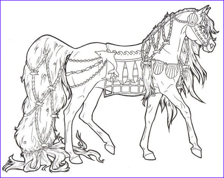 Free Horse Coloring Page Unique Collection Free Printable Horse Coloring Pages for Adults