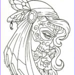 Free Printable Day Of The Dead Coloring Pages Inspirational Gallery Sugar Skull Coloring Page Coloring Home