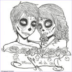 Free Printable Day Of The Dead Coloring Pages New Collection Print Skull Sugar Couples Love Coloring Pages
