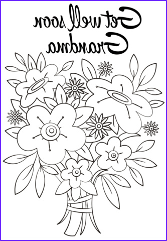 Get Well soon Coloring Pages Cool Photos Get Well soon Grandma Coloring Page