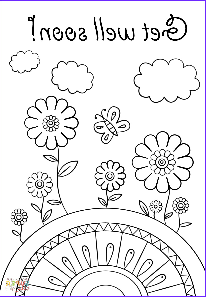 Get Well soon Coloring Pages New Image Get Well soon Coloring Page
