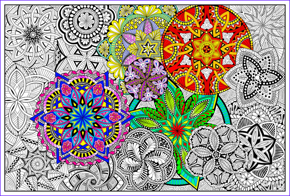 Giant Coloring Poster Beautiful Gallery Mandala Madness Giant Coloring Poster