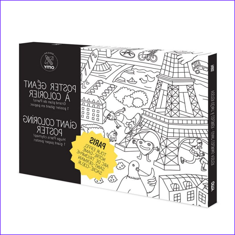 Giant Coloring Poster New Photos Paris Coloring Pages Omy Design