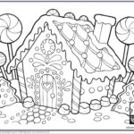Gingerbread House Coloring Awesome Stock 3d Gingerbread House Coloring Coloring Pages