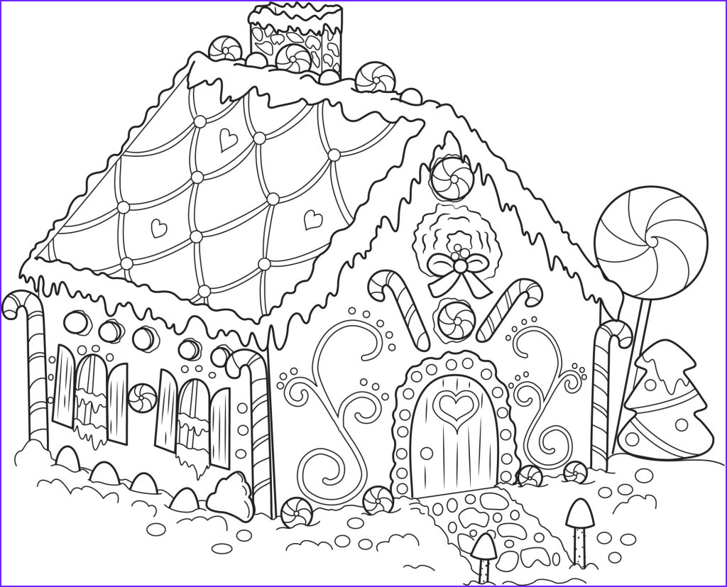 Gingerbread House Coloring Beautiful Images Free Printable Snowflake Coloring Pages for Kids