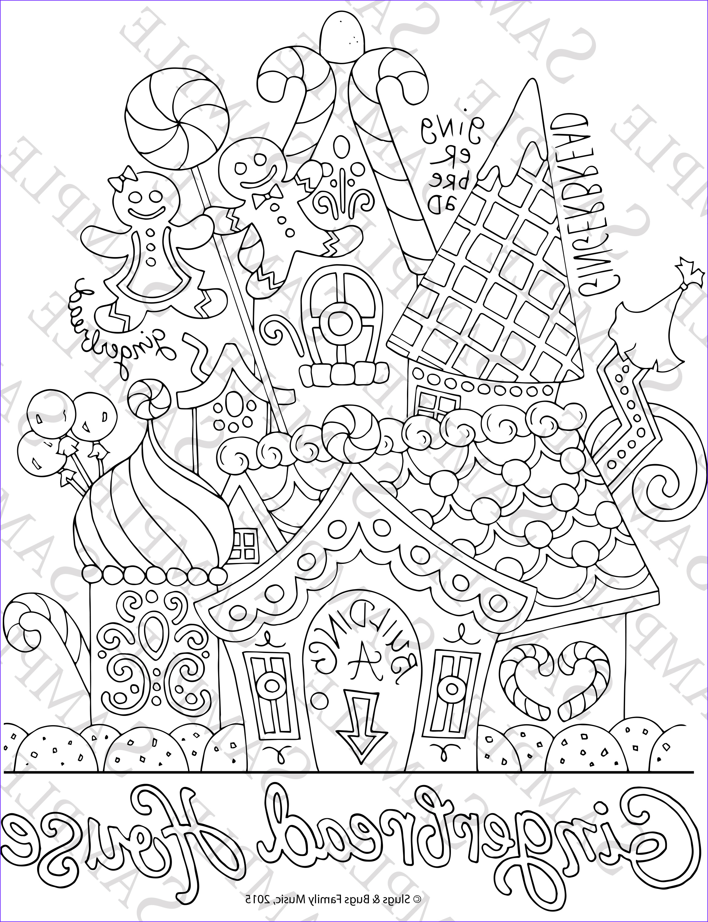 free gingerbread house coloring pages