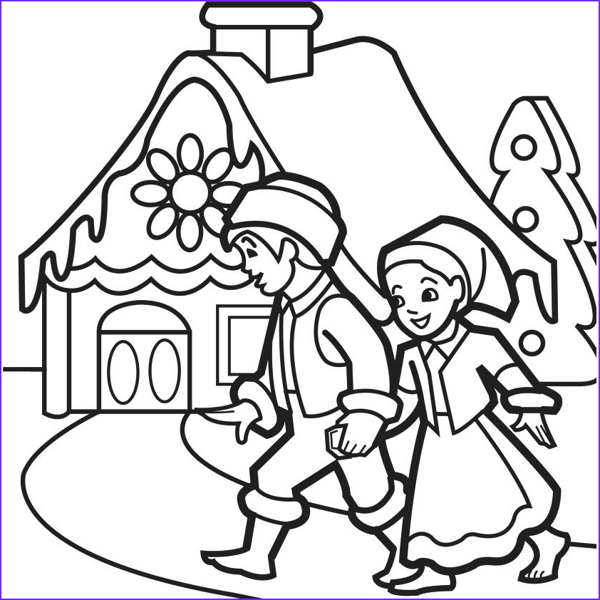 Gingerbread House Coloring Inspirational Gallery Gingerbread House Coloring Pages
