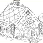 Gingerbread House Coloring Unique Gallery Free Printable Snowflake Coloring Pages For Kids