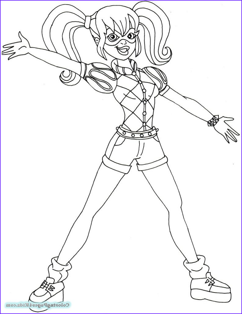 harley quinn coloring pages 107