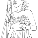 Holidays Coloring Book Cool Collection Ausmalbild Billie Holiday