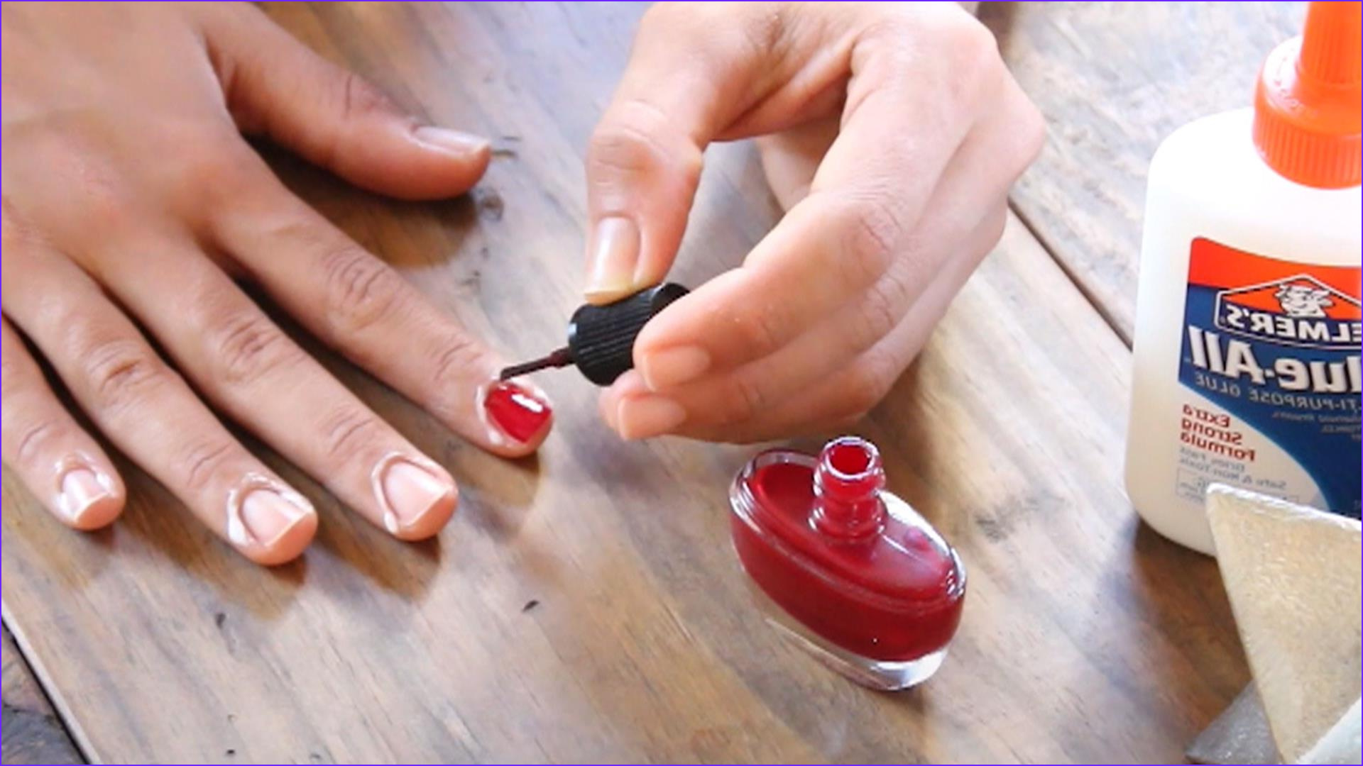 how elmer s glue is the secret to a perfect manicure