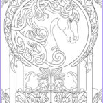How To Publish A Coloring Book Beautiful Photos Art Nouveau Animal Design Dover Publishing