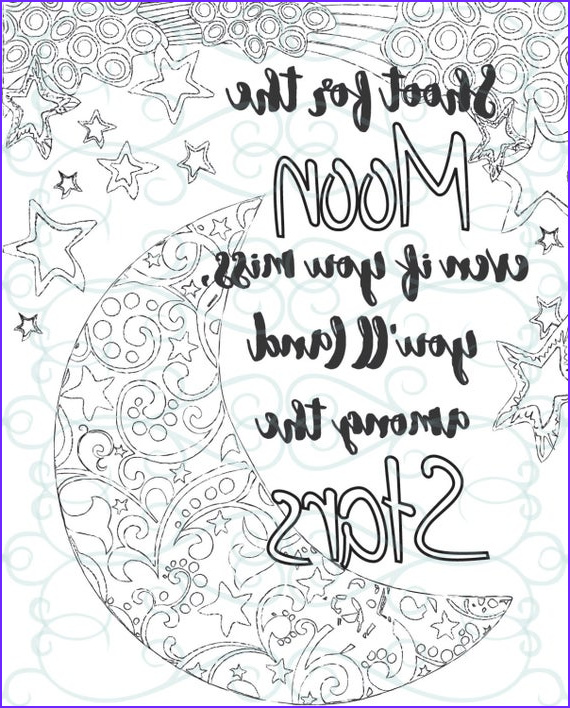 Inspirational Quote Coloring Pages Beautiful Gallery Adult Inspirational Coloring Page Printable 04 Shoot for the