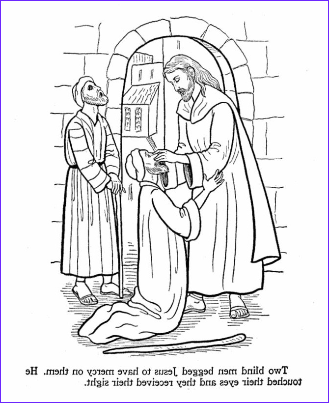 Jesus Healing the Blind Man Coloring Page Beautiful Photos Jesus Heals Two Blind Men Coloring Sheets