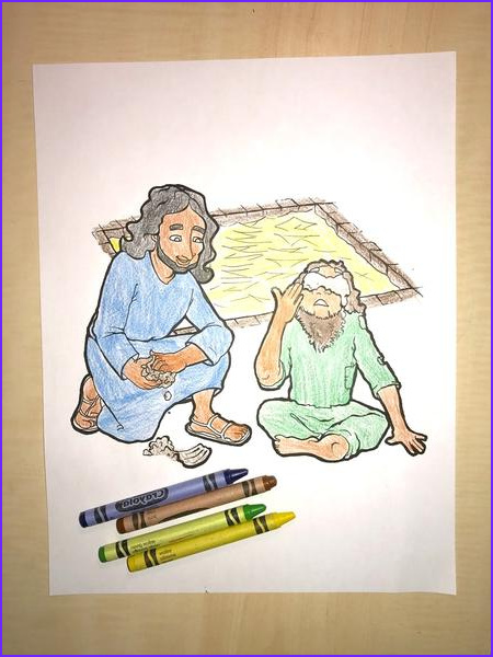 Jesus Healing the Blind Man Coloring Page Luxury Images Jesus Heals the Blind Man Coloring Page – Children S