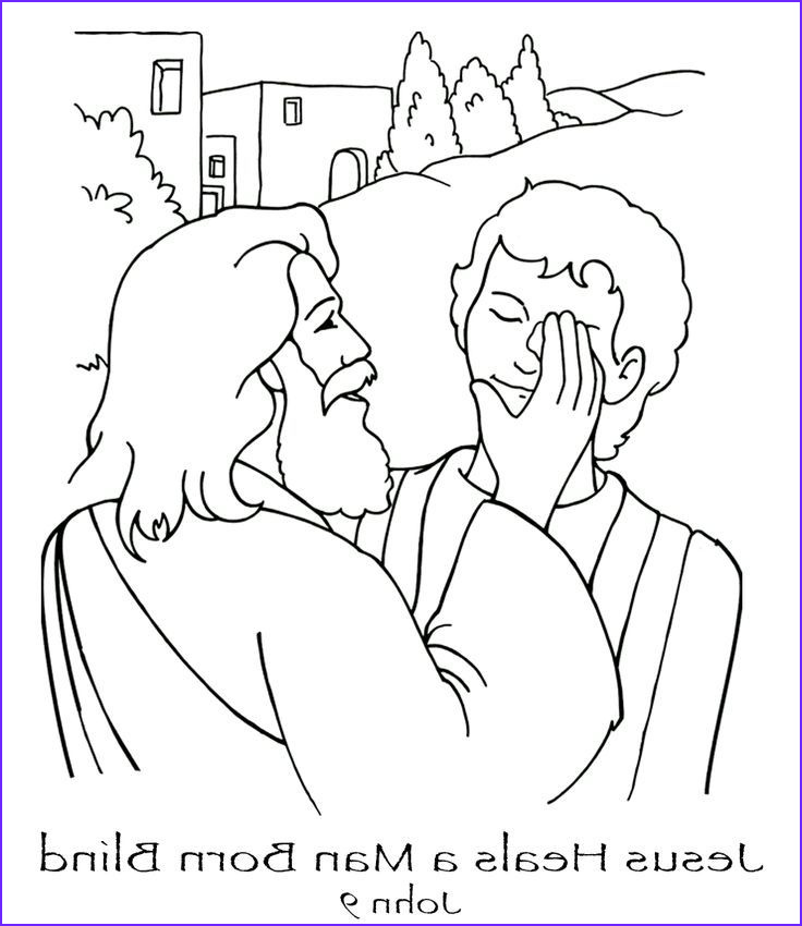 Jesus Healing the Blind Man Coloring Page New Images Pin by Coloring Pages Kids Design On Coloring Pages