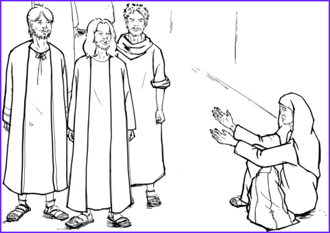 Blind Bartimaeus Asks Jesus to Heal Him coloring page