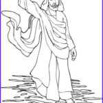 Jesus Walks On Water Coloring Pages Best Of Collection Jesus Walks On Water Coloring Page