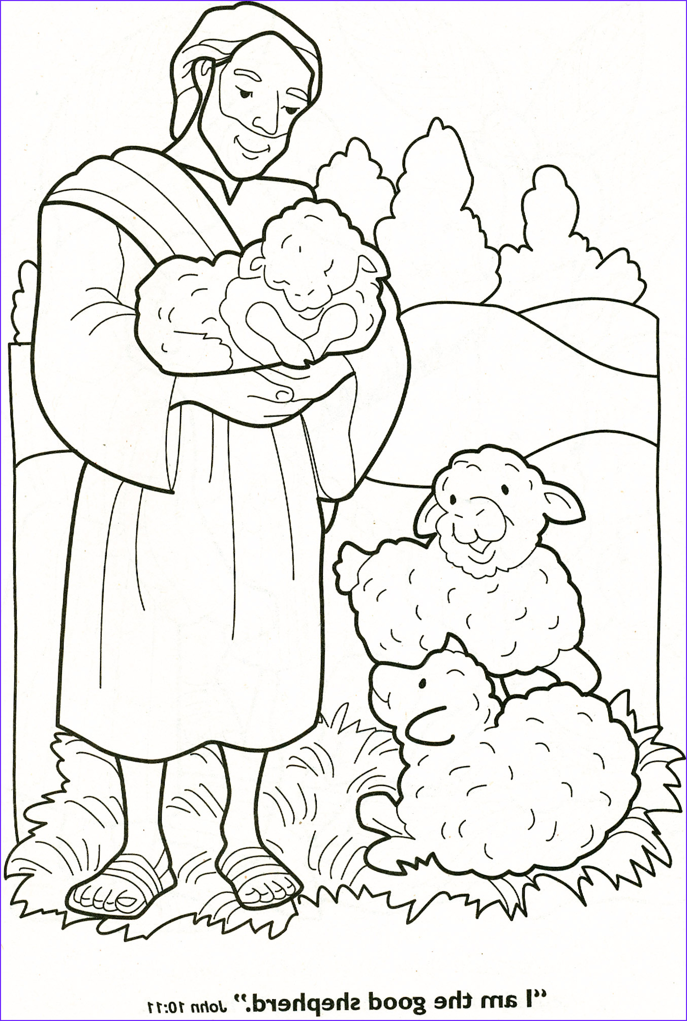 Jesus with Children Coloring Page New Photos Good Shepherd On Pinterest