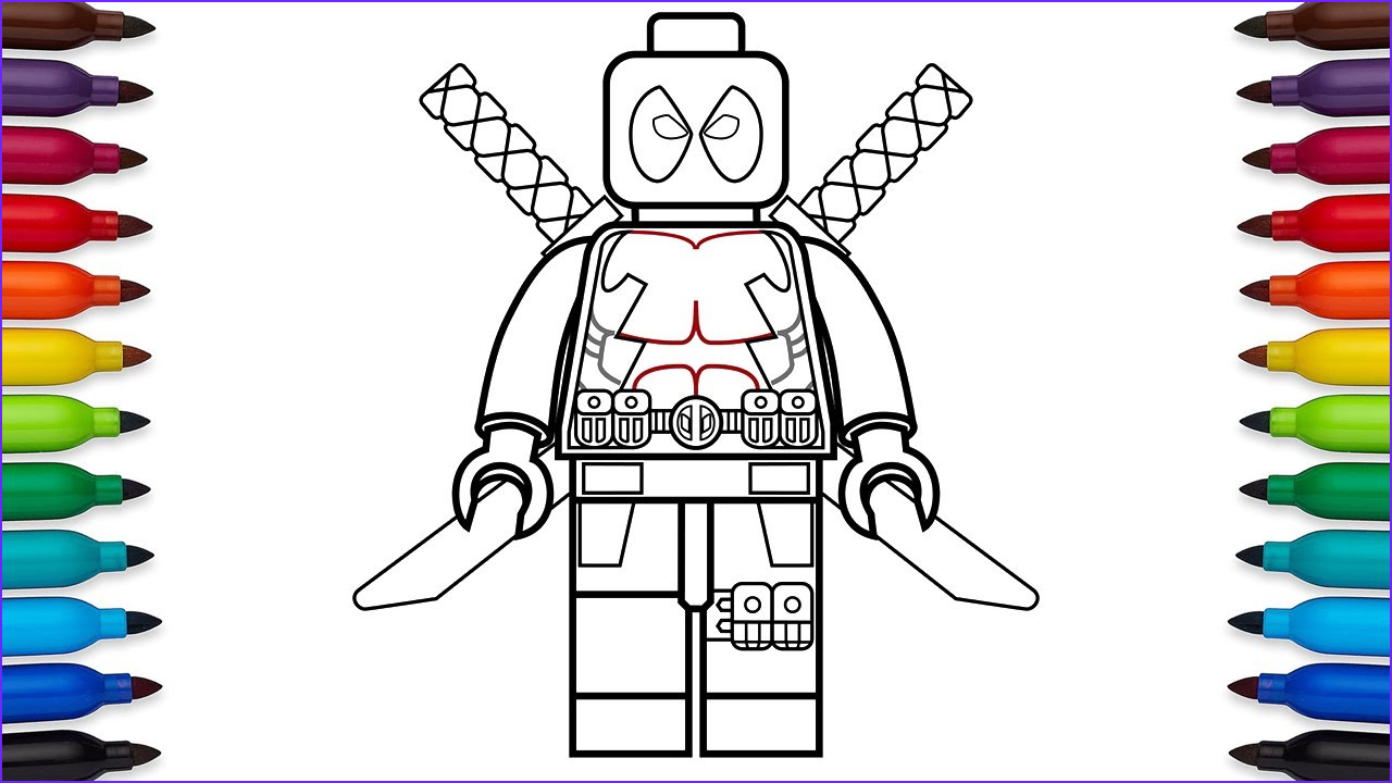 Lego Superheroes Coloring Pages Awesome Stock How To Draw Lego Deadpool Marvel Superheroes Coloring