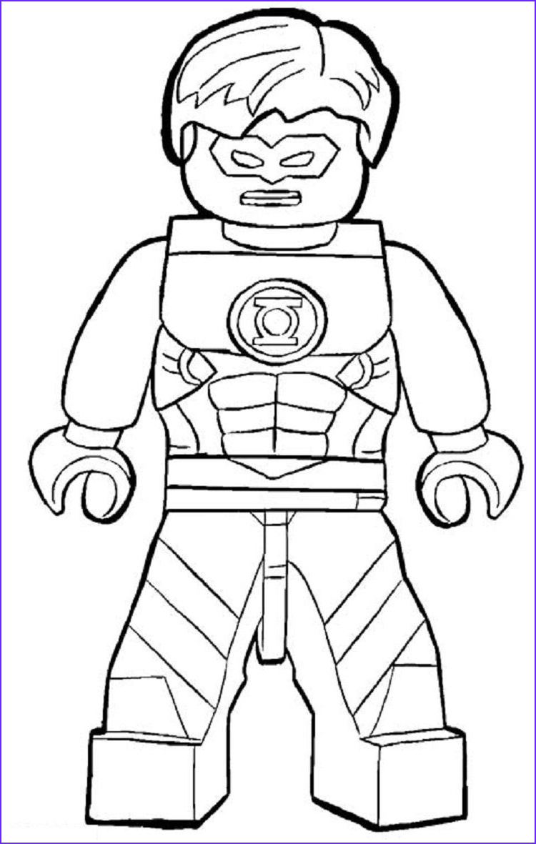 Lego Superheroes Coloring Pages Cool Image Lego Green Lantern Coloring Pages