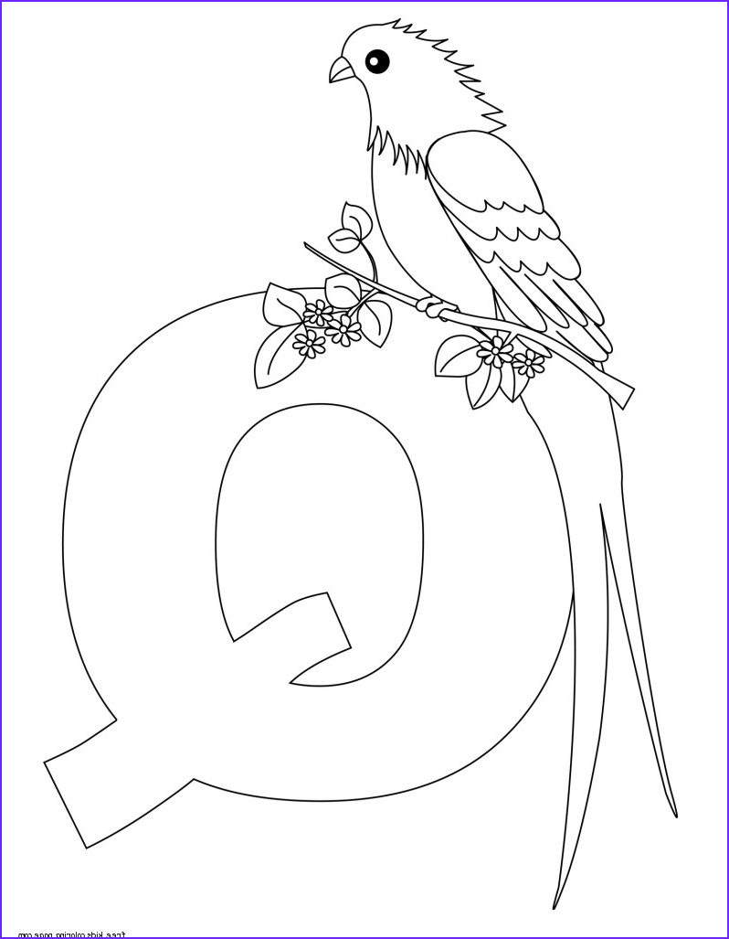 Letter Printable Coloring Pages Awesome Collection Printable Alphabet Letters For Preschoolers Letter Qfree