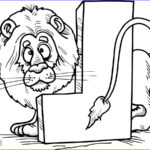 Lion Coloring Page Awesome Photos Letter L Is For Lion Coloring Page