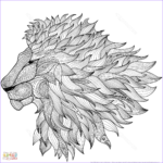 Lion Coloring Page New Collection Lion Zentangle Coloring Page