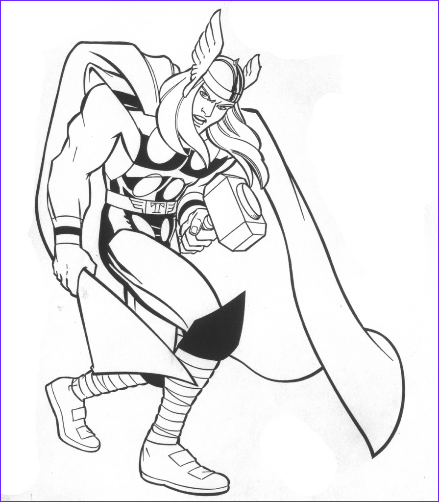 Marvel Coloring Pages New Photos Printable Thor Coloring Pages for Kids