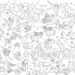 Mat Coloring New Images Colouring Mat Set Christmas By Omy Design & Play White