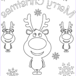 Merry Christmas Coloring Pages Inspirational Photos Merry Christmas Card With Cartoon Reindeers Coloring Page