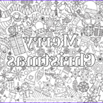Merry Christmas Coloring Pages New Photos Merry Christmas Adult Coloring Page