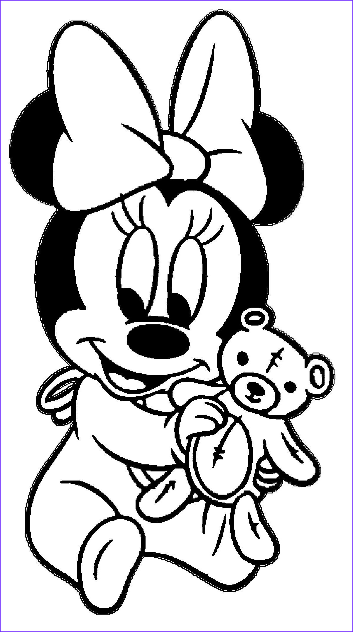 Miney Mouse Coloring Beautiful Gallery Minnie Baby Coloring Pages 2 by Sean Coloring