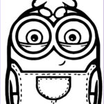 Minion Coloring Pages Bob New Photography Cute Bob And Bear Minions Coloring Page Free Coloring
