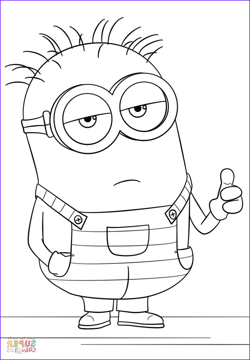 14 Luxury Minions Coloring Book Stock