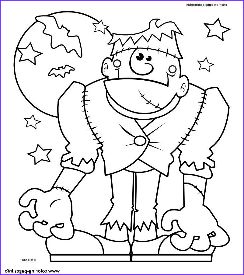 halloween monster printable coloring pages book