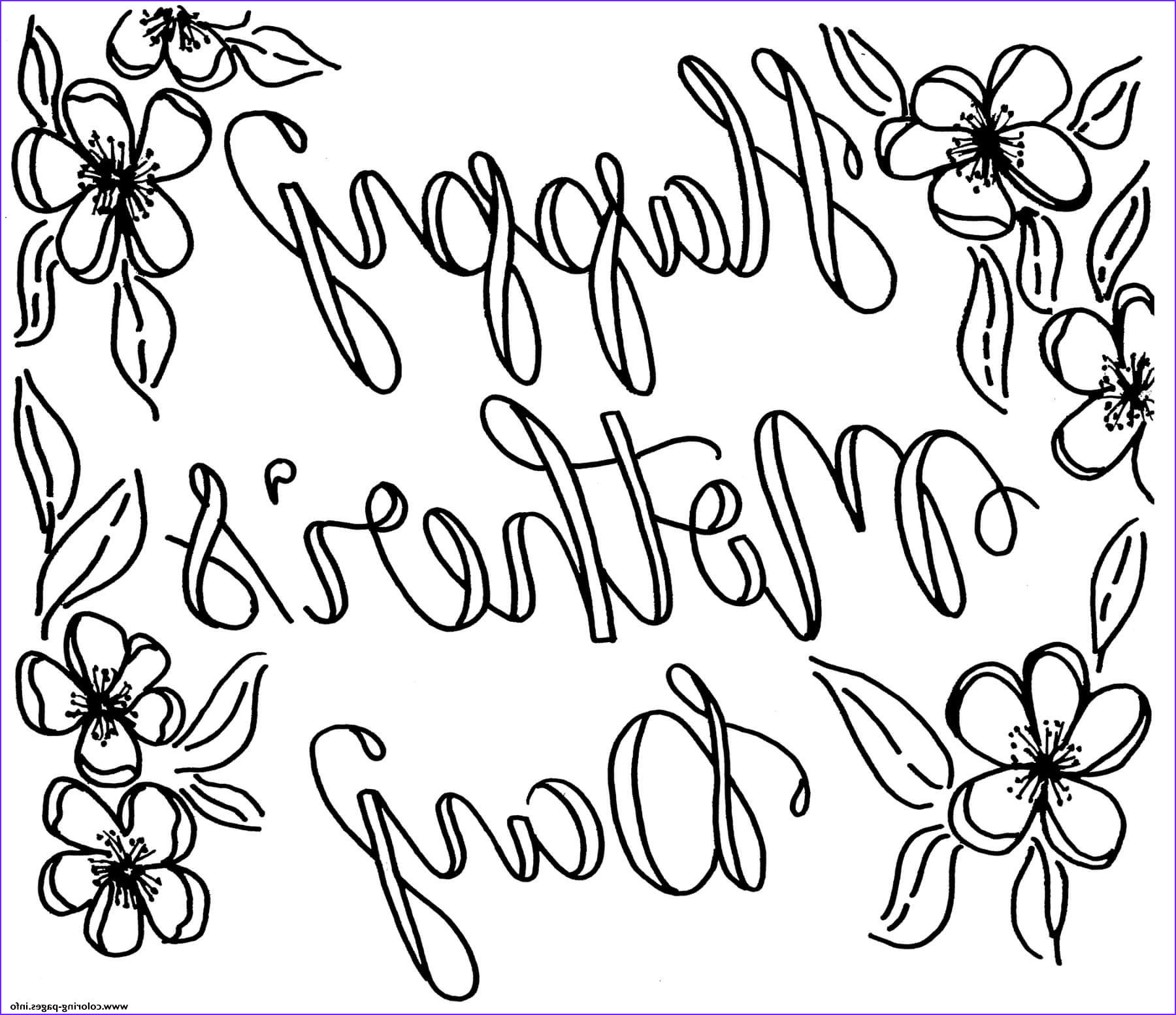 happy mothers day may flowers printable coloring pages book