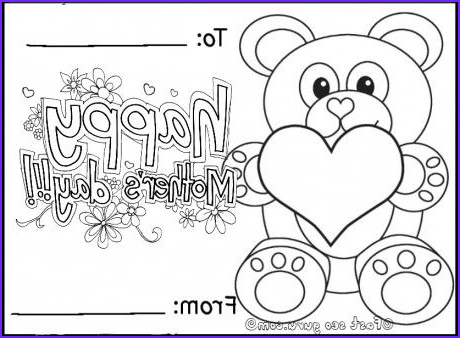 Mother Day Coloring Card New Images Free Printable Happy Mothers Day Teddy Bear Card Coloring