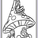 Mushroom Coloring Pages Beautiful Image Cartoon Mushroom Coloring Pages