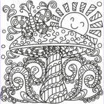 Mushroom Coloring Pages Beautiful Images Pop Art Mushroom Coloring Page