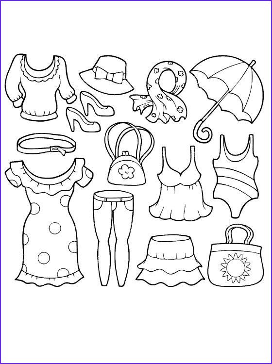 Pants Coloring New Photos Summer Clothing Coloring Page Coloring Pages