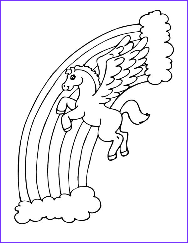 Pegasus Coloring Pages Cool Photos Pegasus Over the Rainbow Coloring Page Netart