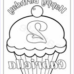 Personalized Coloring Books Best Of Photography Personalized Printable Birthday Cupcake Cup Cake Party Favor