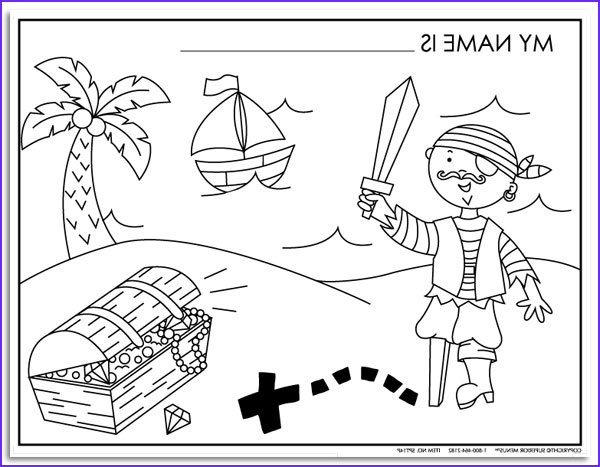 pirate coloring sheets S011PT