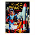 Postcard Coloring Book Beautiful Image Retro Vintage Kitsch 60s Space Happy Coloring Book