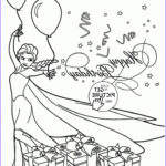 Postcard Coloring Book Luxury Photos Happy Birthday Card With Elsa Coloring Page For Kids